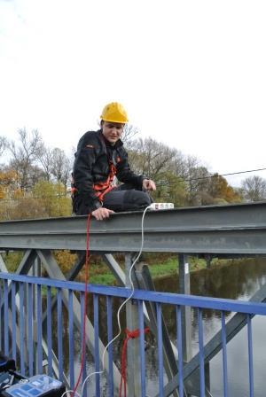 Diagnostika ocelového mostu